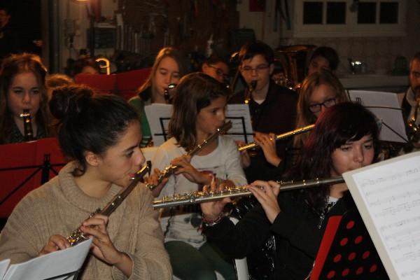 école de musique Noves : musique in Nov' l'orchestre pendant une répétition